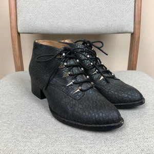 Jeffrey Campbell Hood Lace Up Ankle Booties